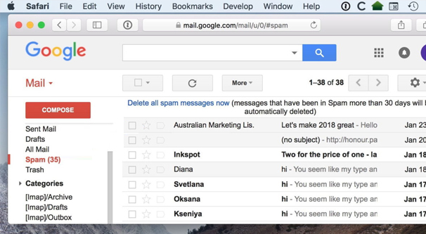 Moving The Spam Folder